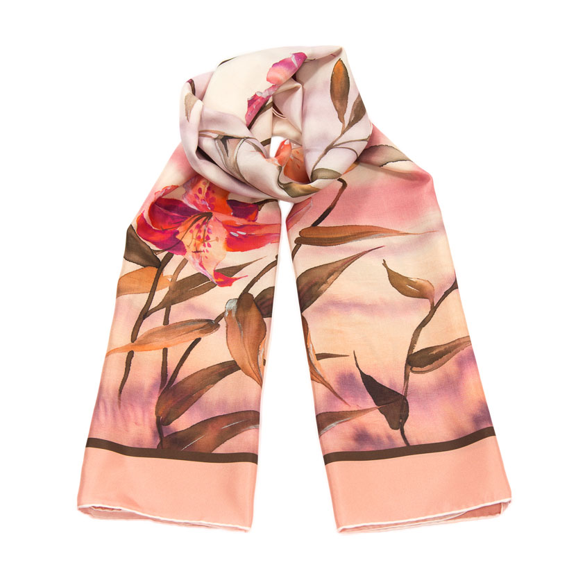 women - SCARVES AND LONG SCARVES - 70X180 SILK Fiordaliso ROSA
