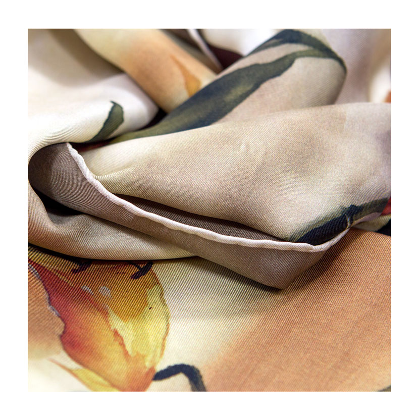 women - SCARVES AND LONG SCARVES - 70X180 SILK Fiordaliso Verde Antico