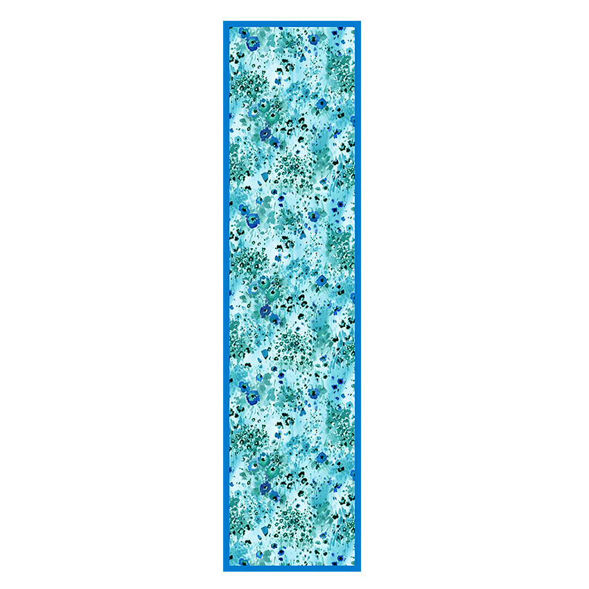 women - SCARVES AND LONG SCARVES - 45x180 Silk Fiore Provenzale Azzurro