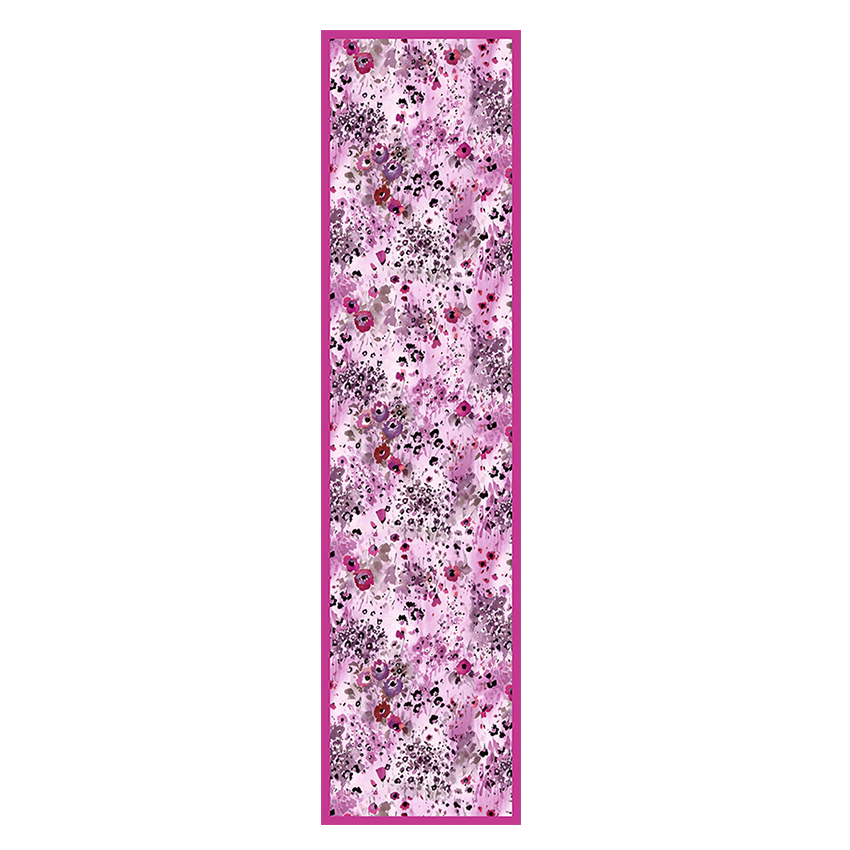 women - SCARVES AND LONG SCARVES - 45x180 Silk Fiore Provenzale Fucsia