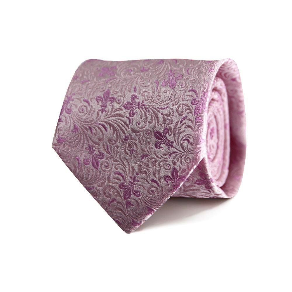 men - TIES - JACQUARD Giglio Ramage ROSA