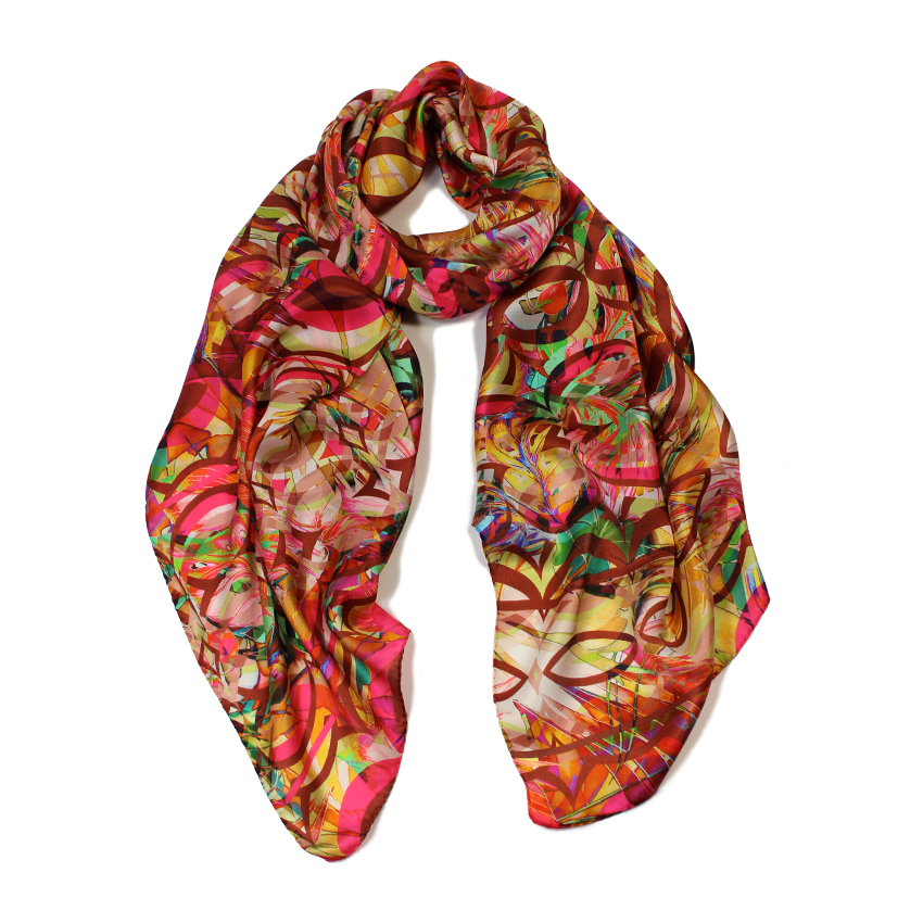 women - SCARVES AND LONG SCARVES - 70X180 SILK Gioioso Rosso