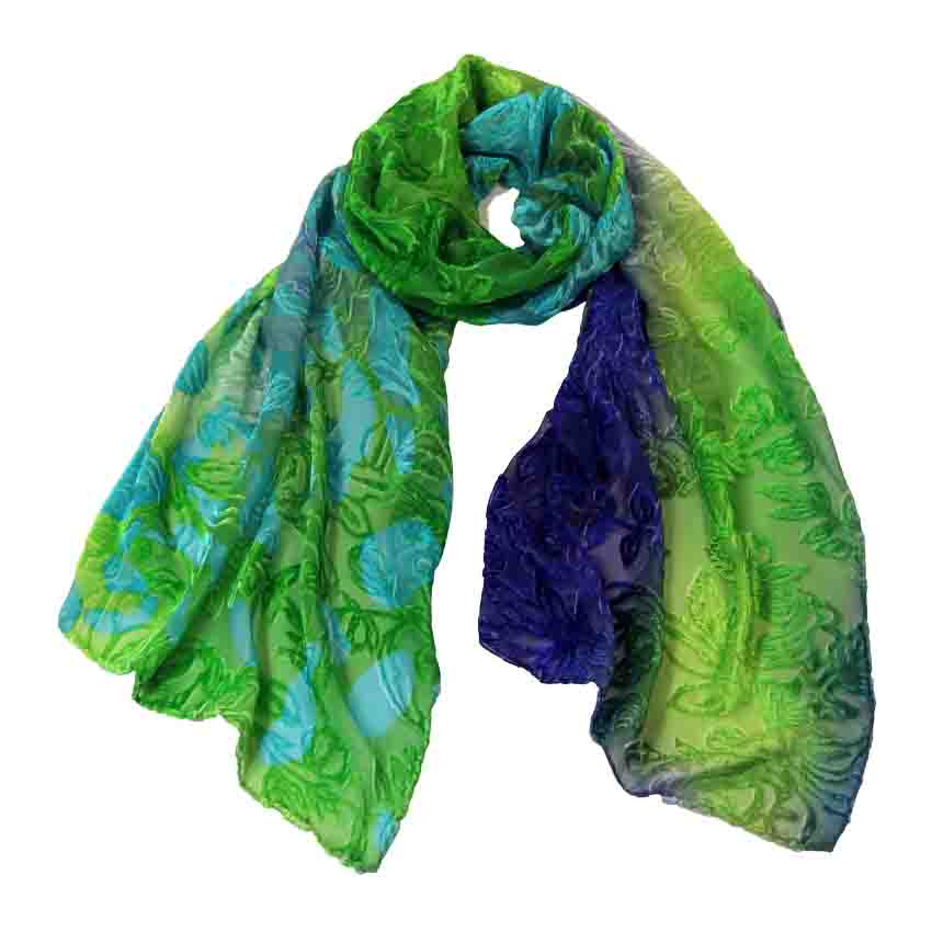 women - SCARVES AND LONG SCARVES - Devorè Luce Verde Azzurro