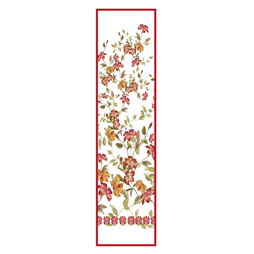 women - SCARVES AND LONG SCARVES - 45x180 Silk Maria Rosso