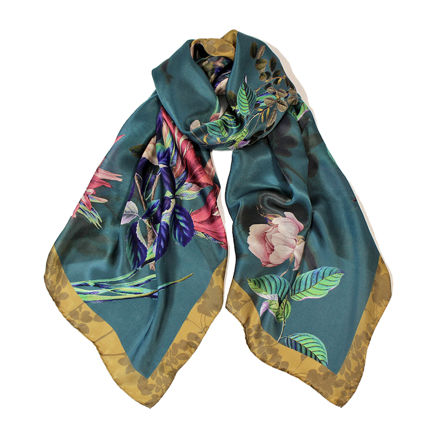 women - SCARVES AND LONG SCARVES - 70X180 SILK Merlo Blu