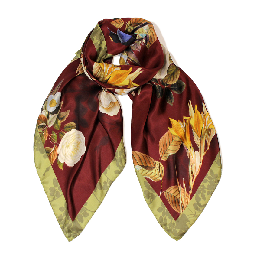 women - SCARVES AND LONG SCARVES - 70X180 SILK Merlo Granata