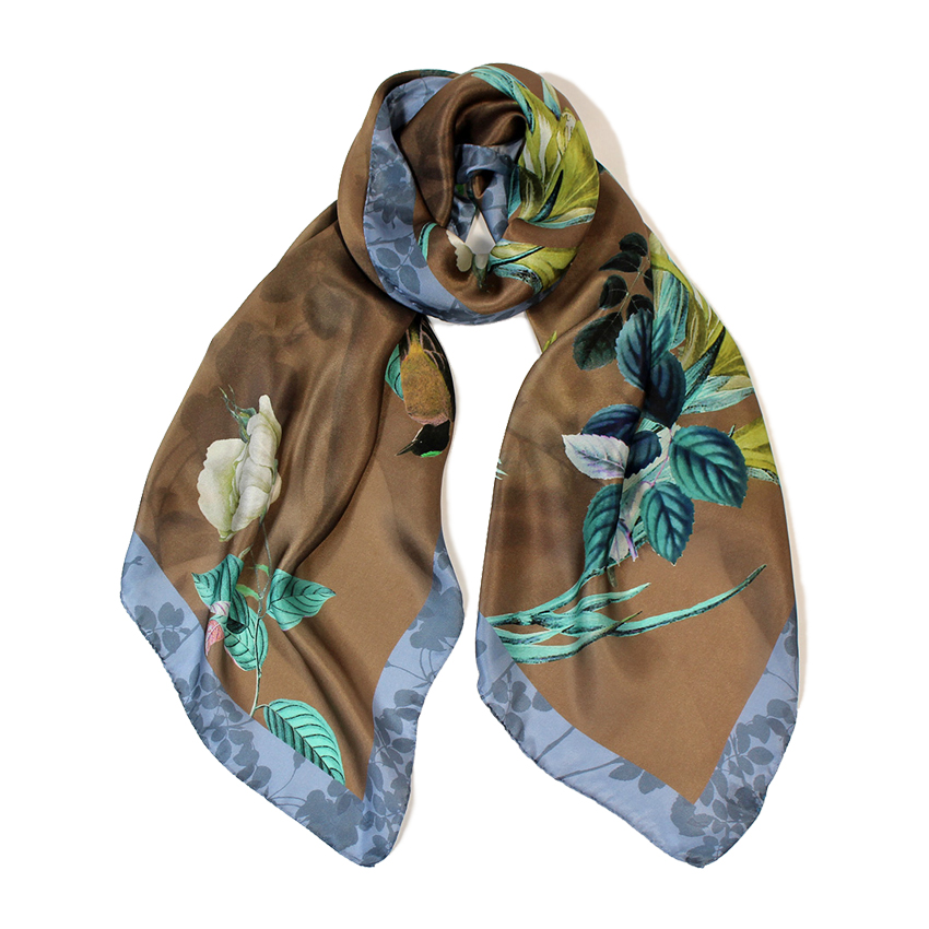 women - SCARVES AND LONG SCARVES - 70X180 SILK Merlo Grigio