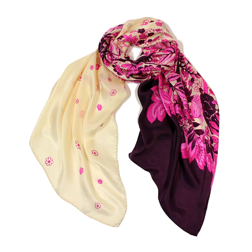 women - SCARVES AND LONG SCARVES - 70X180 SILK Pioggia Viola
