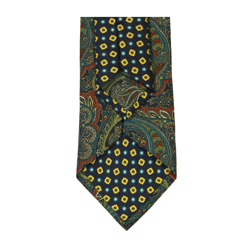 men - TIES - Printed Palacodino Platone Blu Oro