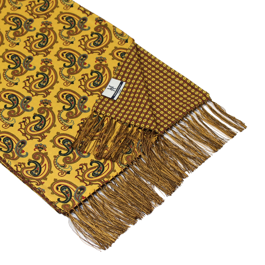 men - SCARVES - DOUBLE SILK Raffaello Giallo