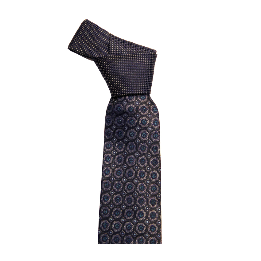 men - TIES - Palacodino Jacquard Savoia Nero