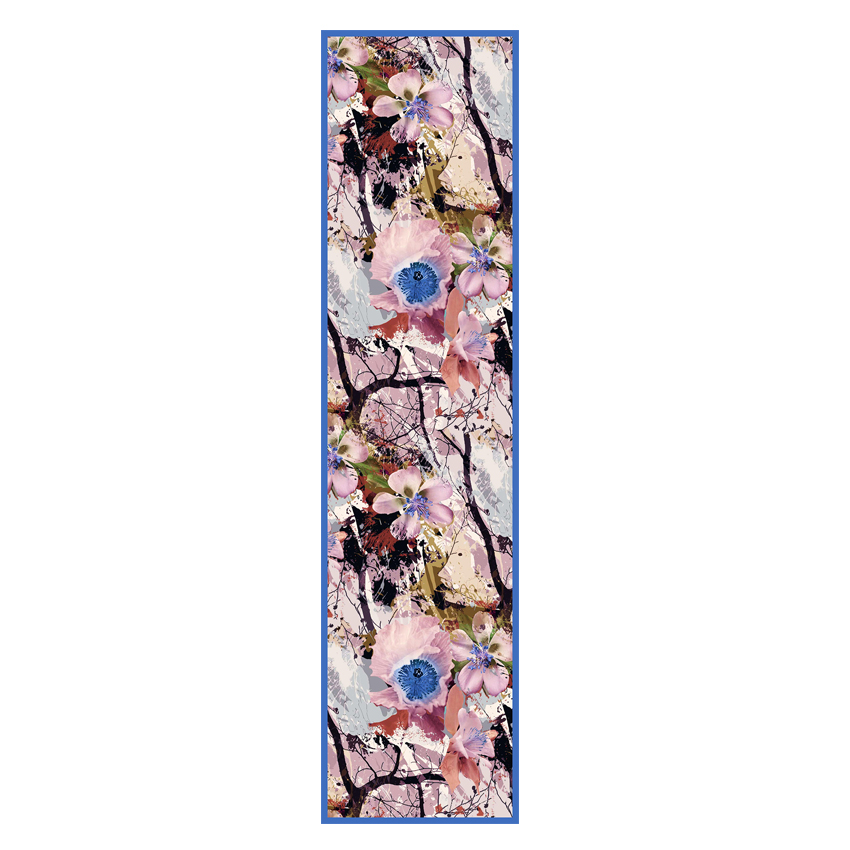 women - SCARVES AND LONG SCARVES - 45x180 Silk Valchiria Azzurro Rosa